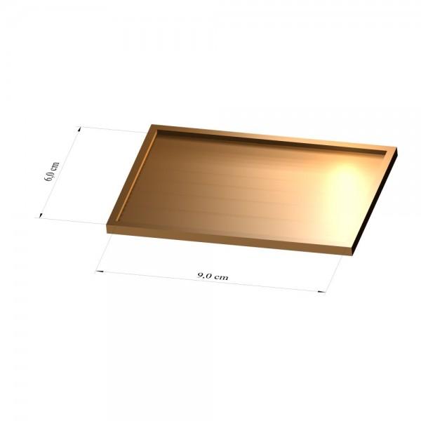 Tray 6 cm x 9 cm, 3mm