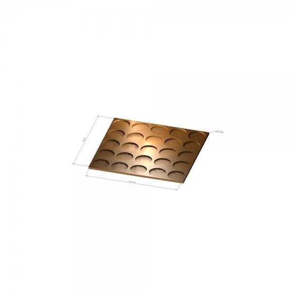 5x5 Tray 32 mm rund, 3mm