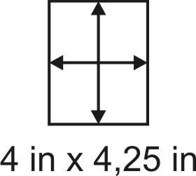 2mm zöllige Holzbase 4 x 4,25