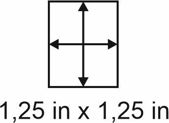 3mm zöllige Holzbase 1,25 x 1,25