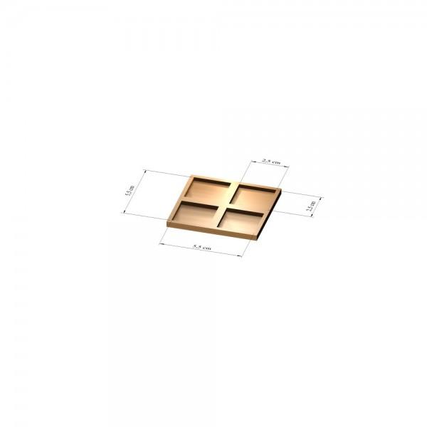 2x2 Tray 25 mm eckig, 3mm