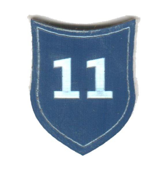 """Zahlenmarker Schild """"11"""", blau"""