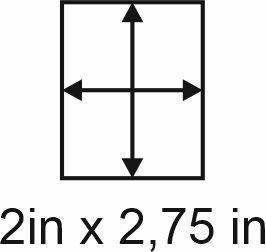 2mm zöllige Holzbase 2 x 2,75