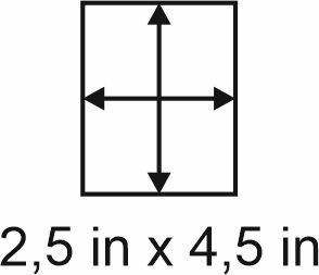 3mm zöllige Holzbase 2,5 x 4,5