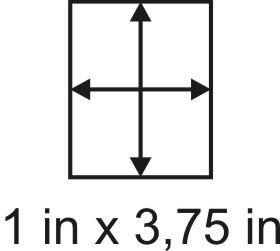 3mm zöllige Holzbase 1 x 3,75