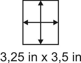3mm zöllige Holzbase 3,25 x 3,5