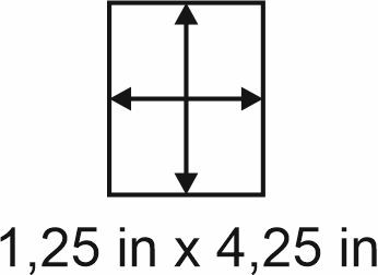 3mm zöllige Holzbase 1,25 x 4,25