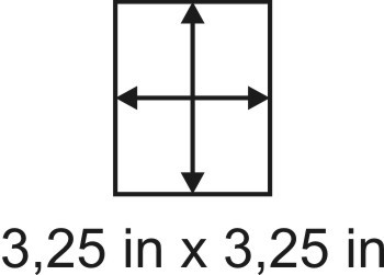 3mm zöllige Holzbase 3,25 x 3,25