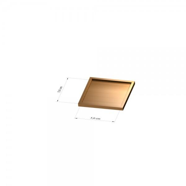 Tray 5 cm x 5 cm, 3mm