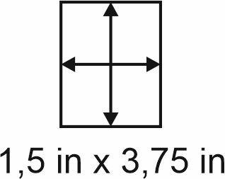 3mm zöllige Holzbase 1,5 x 3,75