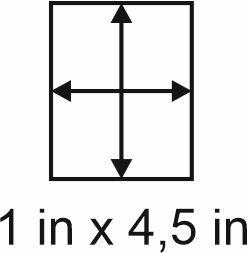 2mm zöllige Holzbase 1 x 4,5