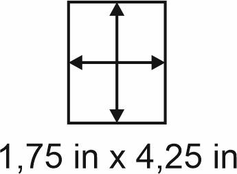 3mm zöllige Holzbase 1,75 x 4,25