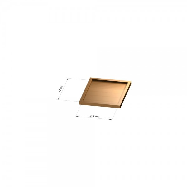 Tray 4,5 cm x 4,5 cm, 3mm