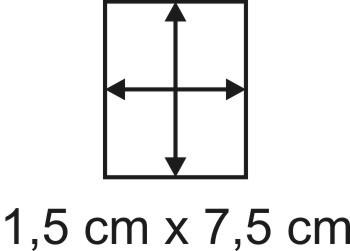 Eckbase 1,5x7,5 cm, 3mm dick