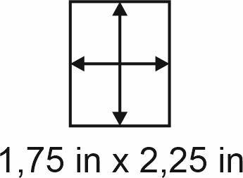 3mm zöllige Holzbase 1,75 x 2,25