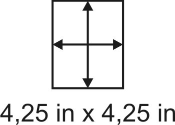 2mm zöllige Holzbase 4,25 x 4,25
