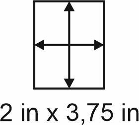 3mm zöllige Holzbase 2 x 3,75