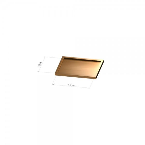 Tray 4 cm x 6 cm, 3mm