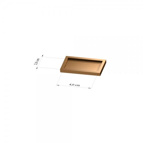 Tray 2 cm x 4 cm, 3mm