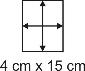 Eckbase 4x15 cm, 3mm dick