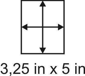 3mm zöllige Holzbase 3,25 x 5