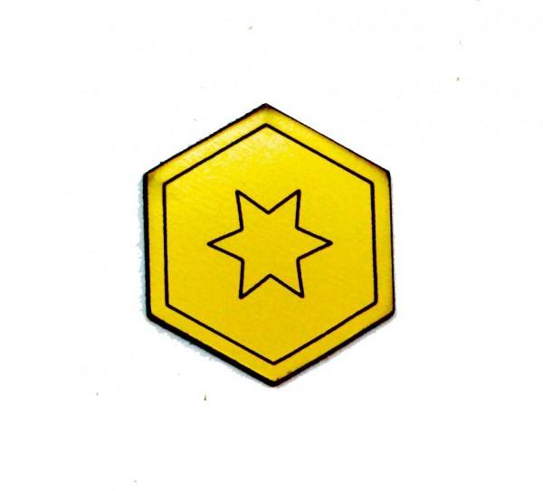 Marker Stern, gelb