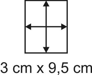 Eckbase 3x9,5 cm, 3mm dick