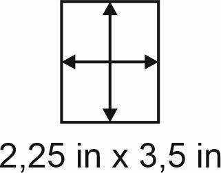 3mm zöllige Holzbase 2,25 x 3,5