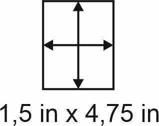 3mm zöllige Holzbase 1,5 x 4,75