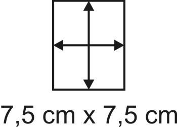 2mm Holzbase 7,5 x 7,5