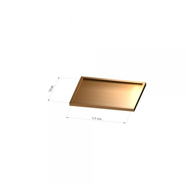 Tray 5 cm x 7,5 cm, 3mm