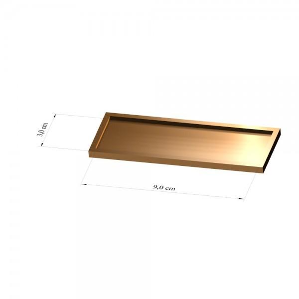 Tray 3 cm x 9 cm, 2mm