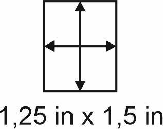 3mm zöllige Holzbase 1,25 x 1,5