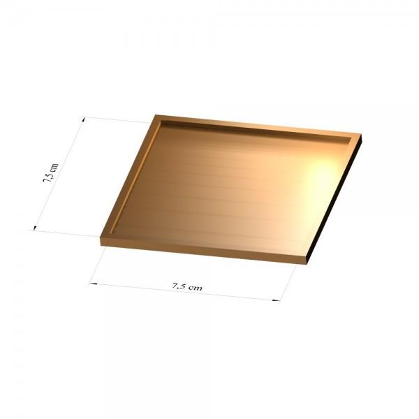 Tray 7,5 cm x 7,5 cm, 3mm