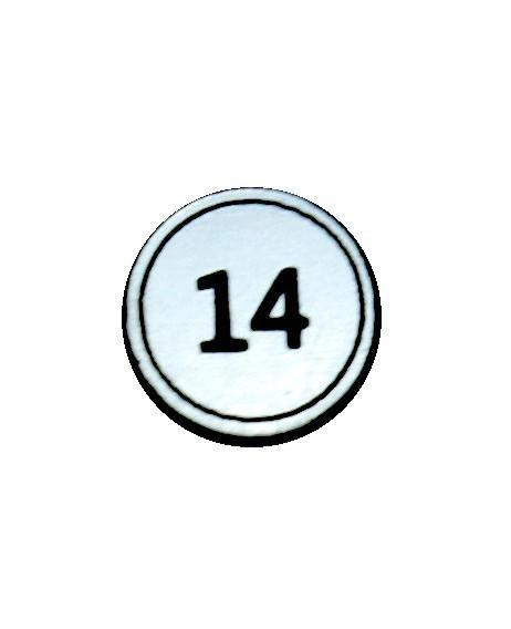 """Zahlenmarker rund """"14"""", silber"""