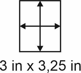 3mm zöllige Holzbase 3 x 3,25