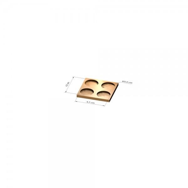 2x2 Tray 20 mm rund, 2mm