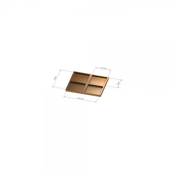 2x2 Tray 32 mm eckig, 3mm