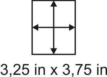3mm zöllige Holzbase 3,25 x 3,75