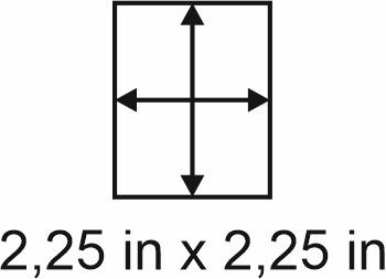 2mm zöllige Holzbase 2,25 x2,25