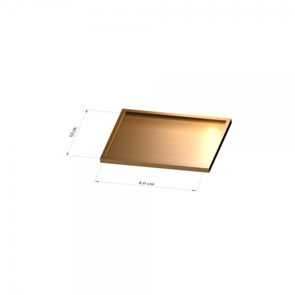 Tray 6 cm x 8 cm, 3mm