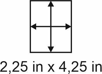 3mm zöllige Holzbase 2,25 x 4,25