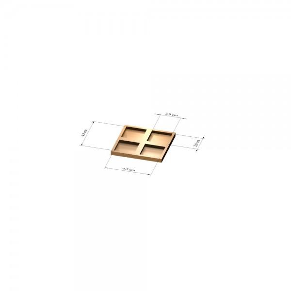 2x2 Tray 20 mm eckig, 2mm