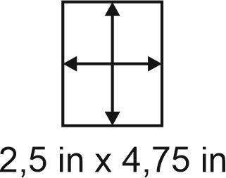 3mm zöllige Holzbase 2,5 x 4,75