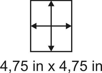 2mm zöllige Holzbase 4,75 x 4,75