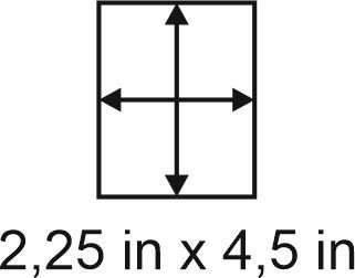 2mm zöllige Holzbase 2,25 x 4,5