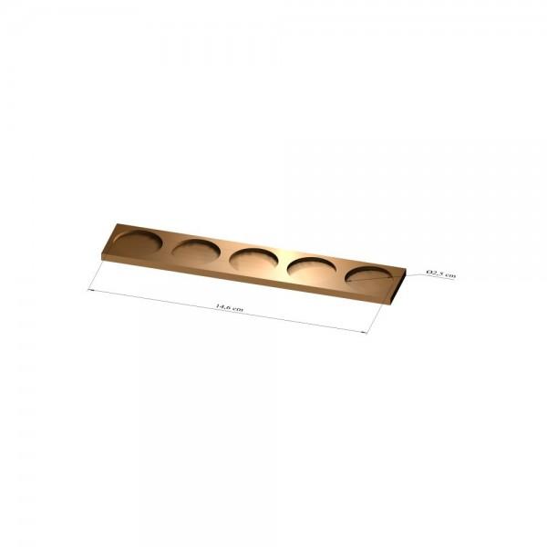1x5 Tray 25 mm rund, 2mm
