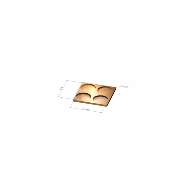 2x2 Tray 32 mm rund, 3mm