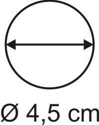 Tabletop Rundbase 4,5 cm, 3mm