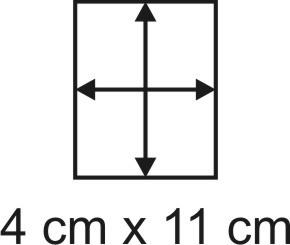 Eckbase 4x11 cm, 3mm dick